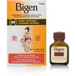Bigen Powder Hair Color - 48 Dark Chestnut
