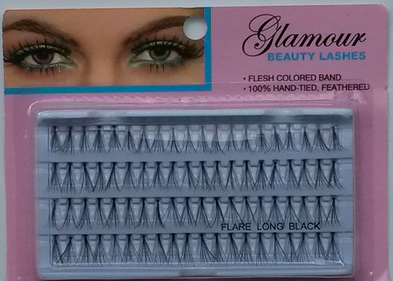 Glamour Beauty Long Individual Eyelahes (1 Dozen) - 4 Lines