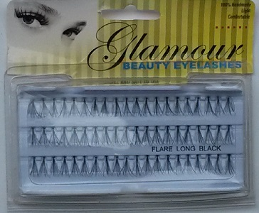 Glamour Beauty Long Individual Eyelahes  (1 Dozen) - 3 Lines