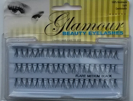 Glamour Beauty Medium Individual Eyelahes  (1 Dozen) - 3 Lines