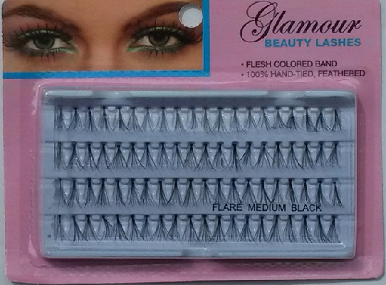 Glamour Beauty Medium Individual Eyelahes (1 Dozen) - 4 Lines