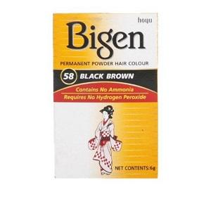 Bigen Powder Hair Color - 58 Black Brown