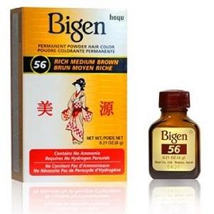 Bigen Powder Hair Color - 56 Rich Medium Brown