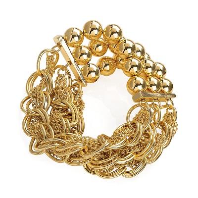 Elasticated Gold Colour Bracelet