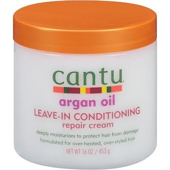 Cantu Argan Oil Leave-In Conditioning Repair Cream, 16 oz / 453g