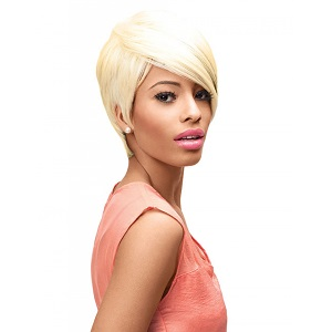 Sleek Synthetic 101 Ebony Wig