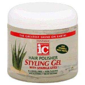 Fantasia IC Hair Polisher Styling Gel With Sparkle Lites 16 oz