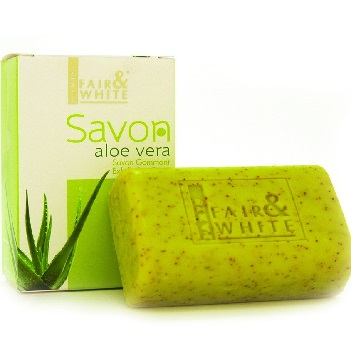 Fair & White Aloe Vera Exfoliating Soap 200g