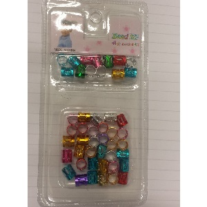 Braid Hair Cuffs (A PackOf 40 pieces) - Mix Colour