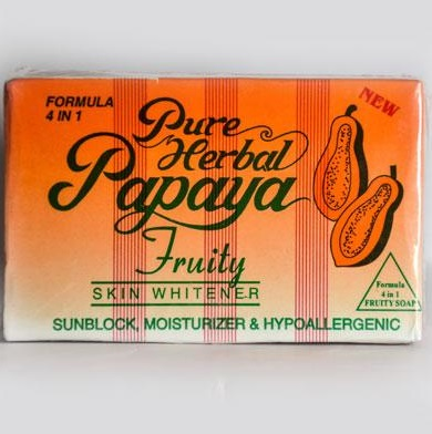 Pure Herbal Papaya Fruity Skin Whitener Soap 4.5 oz
