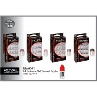 Royal 24 Burlesque Nail Tips With 3g Nail Glue