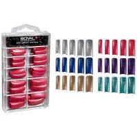 Royal 100 Pre Coloured Glitter Long Nail Tips