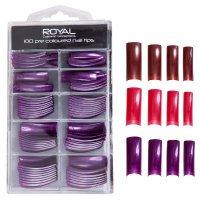 Royal 100 Pre Coloured Long Nail Tips