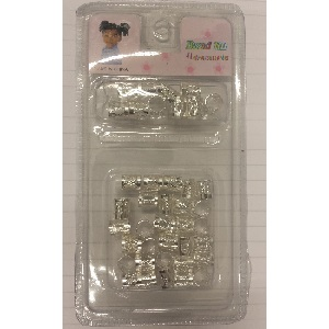 Braid Hair Cuffs (A PackOf 40 pieces) - Silver