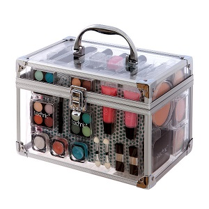 Technic Essential Large Clear Carry Case With Cosmetics