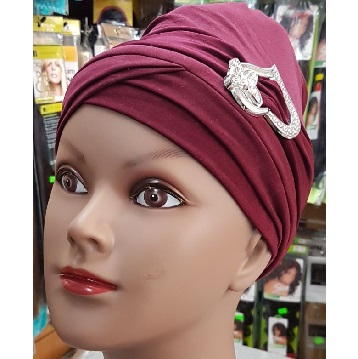 Turban Hats with Jewel Front