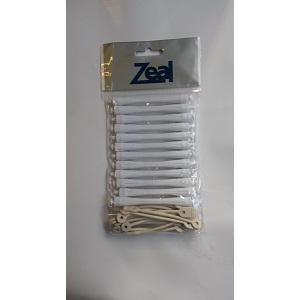 Zeal Hair Perm Rod Rollers - White