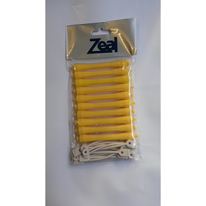 Zeal Hair Perm Rod Rollers - Yellow