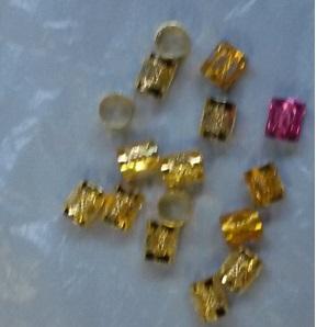 Braid Hair Cuffs (A PackOf 40 pieces) - Gold