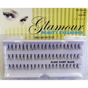 12 X Glamour Beauty Short Individual Eyelahes (1 Dozen)