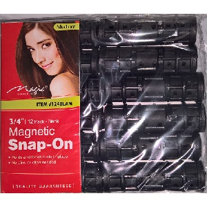 "Magic Magnetic Snap-On Roller 3/4"" - Medium (A pack of 12)"