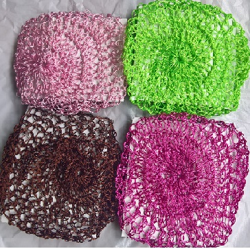 12x Medium Thick Hair Net - Mix Colour  (1 Dozen)