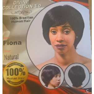 Devine Collection Human Hair Brazilian Hair wig -Fiona (Natural Colour)