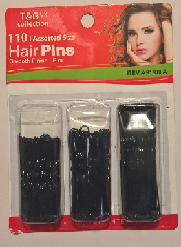 T&G 110pcs Open Hair Pins - Assorted Size