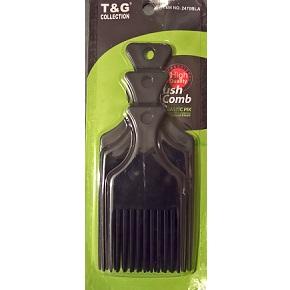 T&G 3Pcs Afro Plastic Pik Comb - Black
