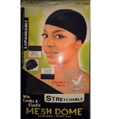 T&G Mesh Dome With Combs & Elastic