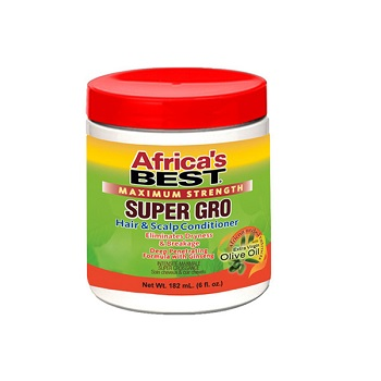 Africa`s Best Maximum Strength Super Gro Hair & Scalp Conditioner 5.25 oz