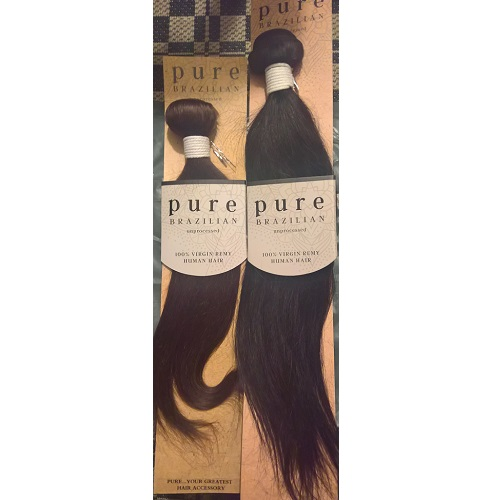 Hairaisers Pure Brazilian Unprocessed Human Hair Straight Weave 10