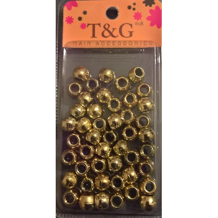 T&G Hair Beads Gold Large