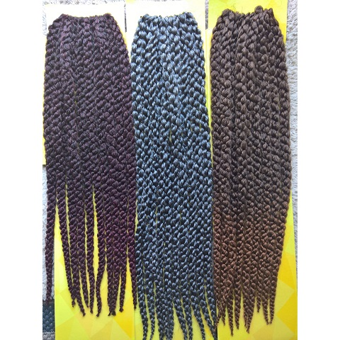 Pyramid Twist Crochet Braid 20