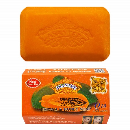 Asantee Papaya & Honey Herbal Soap 125g