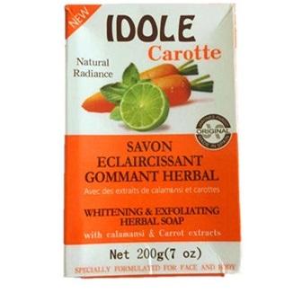 IDOLE Carrot Whitening & Exfoliating Herbal Soap 200g