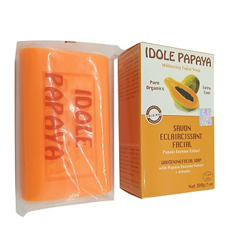 IDOLE Papaya Whitening Facial Soap 200g