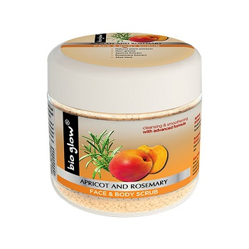 Bio Glow Apricot & Rosemary Face & Body Scrub 300ml