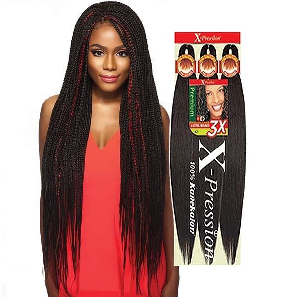"""Xpressions 3X Pre Stretched Braiding Hair 50"""""""