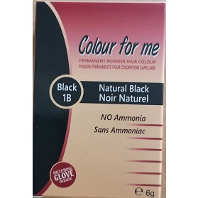 Colour For Me Permanent powder Hair Colour - Jet Black (1) 6g